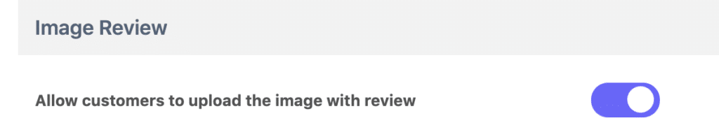 allow image review reviewx settings