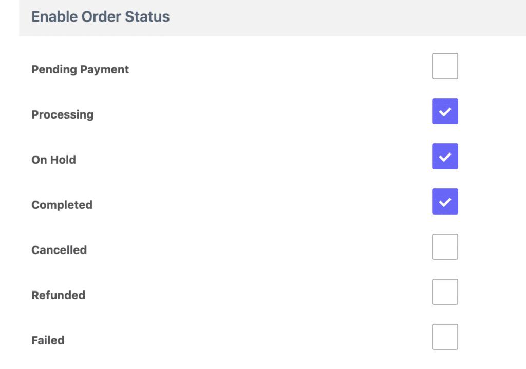 order setatus reviewx settings