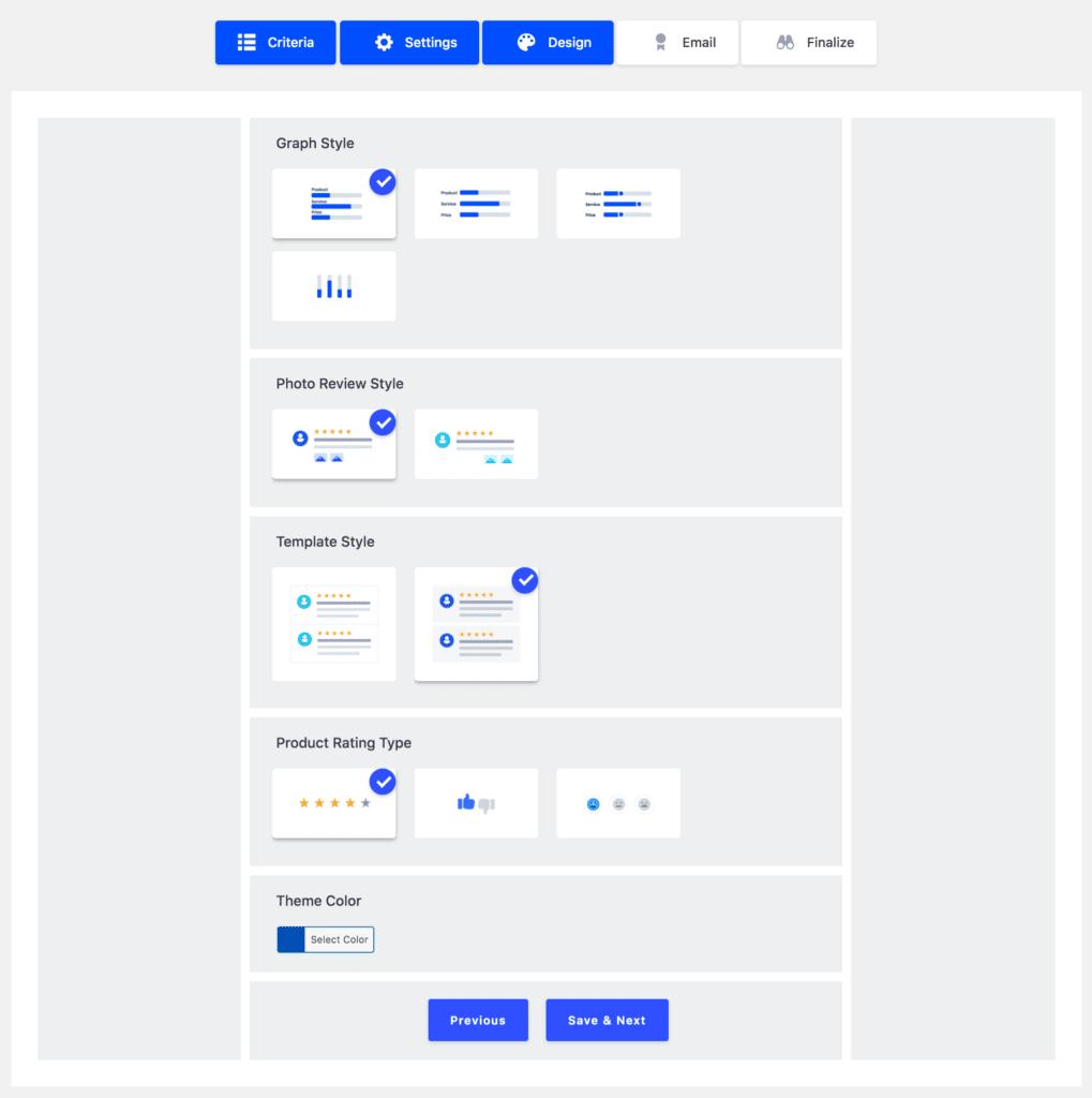 rvx qsetup design tab